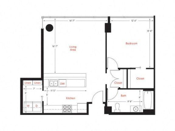 C-7 Floor Plan at Met Lofts, Los Angeles