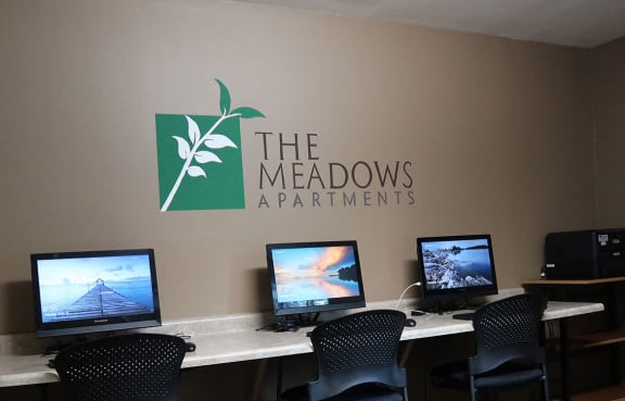Business Center with High Speed Internet at The Meadows Apartments, Madison