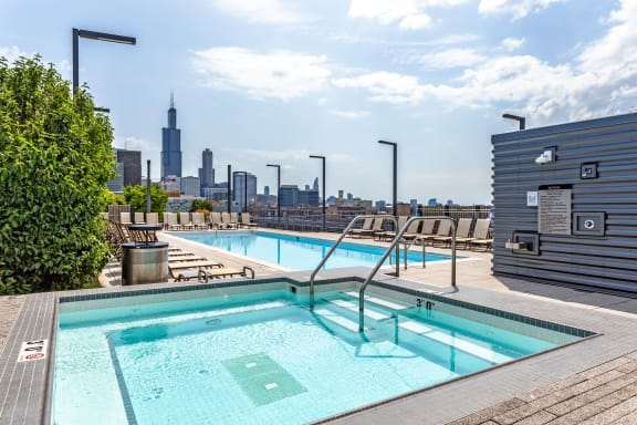 Outdoor Swimming Pool at The Madison at Racine, Chicago