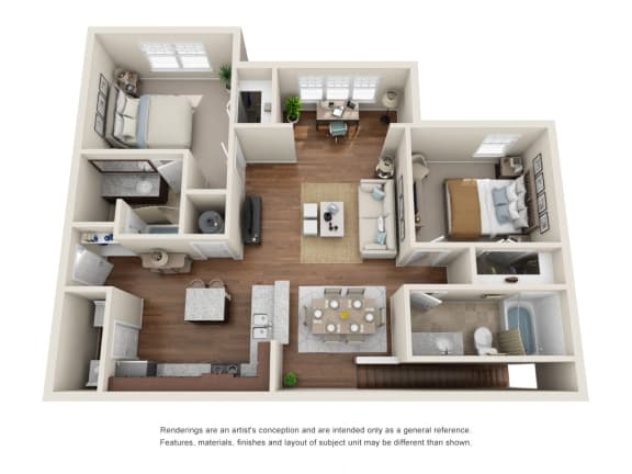 Floor Plan  B3GS - Belmont with Garage and Sunroom