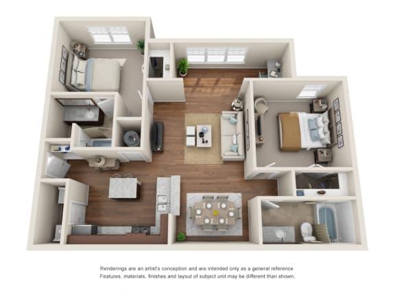 Floor Plan  B2S - Del Mar with Sunroom