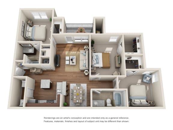Floor Plan  C1 - Santa Anita