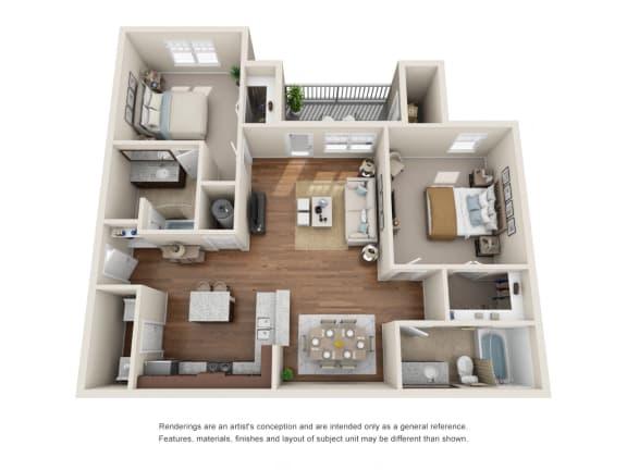 Floor Plan  B2 - Saratoga