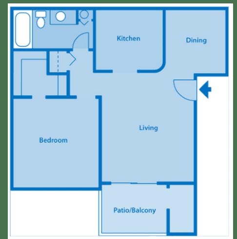 Estancia 1A One Bedroom Floor Plan