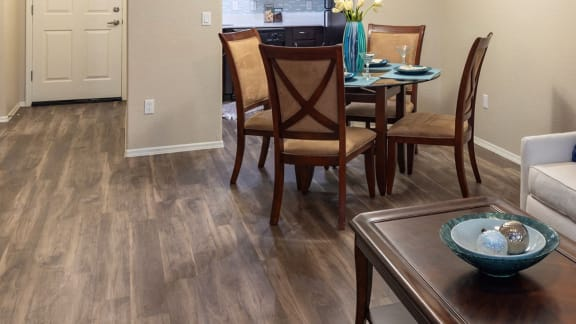 Elegant Vinyl Plank Flooring at La Reserve Villas Apartment Homes