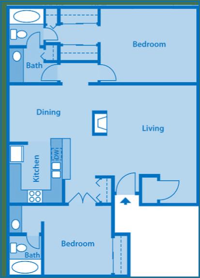 Sycamore Creek Town home Floor Plan