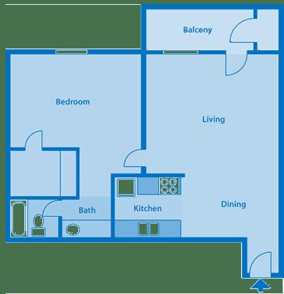 Tanglewood One Bedroom Large Floor Plan