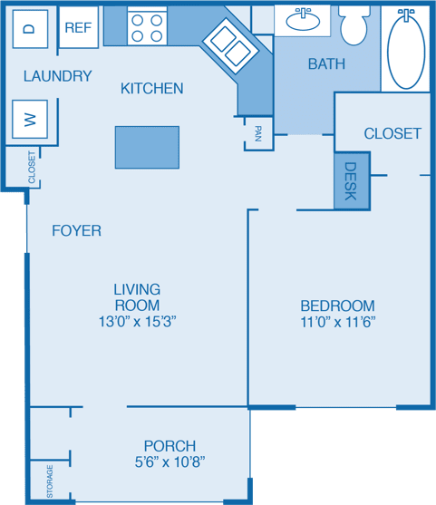 Ridgecrest Floor Plan at Walden Legacy Apartments, Knoxville, TN, 37931