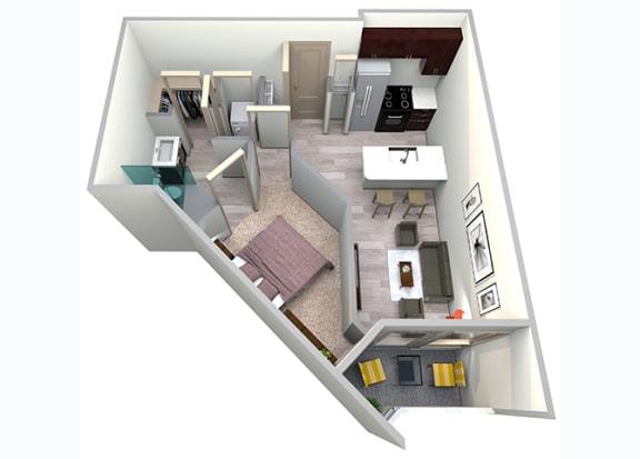 Floor Plan  Royal Floor Plan at Azure Houston Apartments, Texas