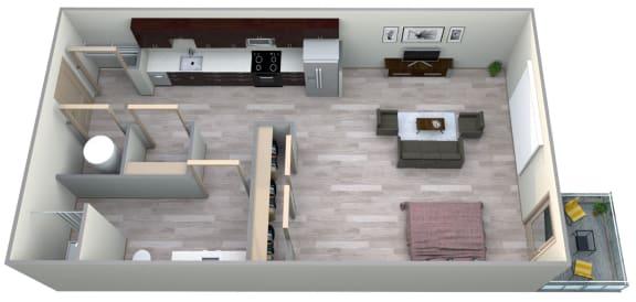 Lapis Floor Plan at Azure Houston Apartments, Houston, 77007