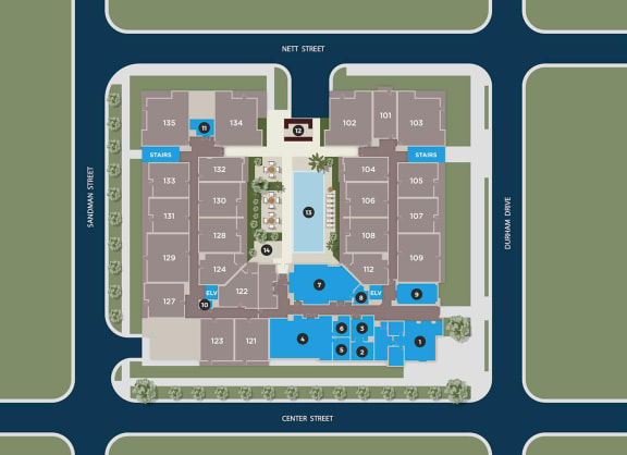 Lapis Floor Plan at Azure Houston Apartments, Texas