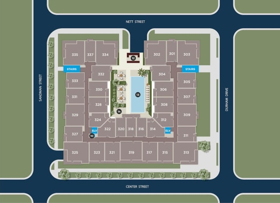 Cobalt Floor Plan at Azure Houston Apartments, Texas, 77007