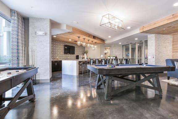 Game Room at Azure Houston Apartments, Texas
