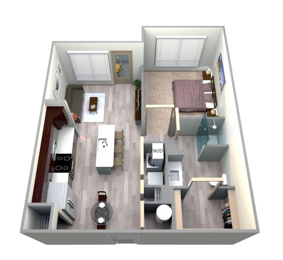 Floor Plan  Azul Floor Plan at Azure Houston Apartments, Houston, 77007