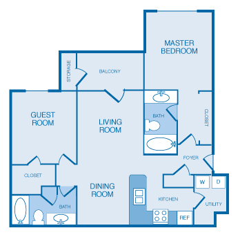 B1A Floorplan at The Legends at Indian Springs, Louisville, KY, 40241