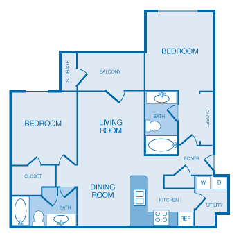 B1B Floorplan at The Legends at Indian Springs, Louisville, KY