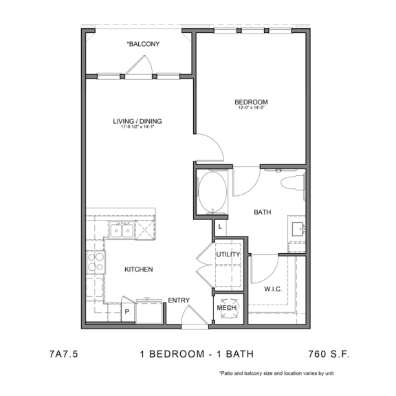 Floor Plan  STAG'S LEAP 7A7.5