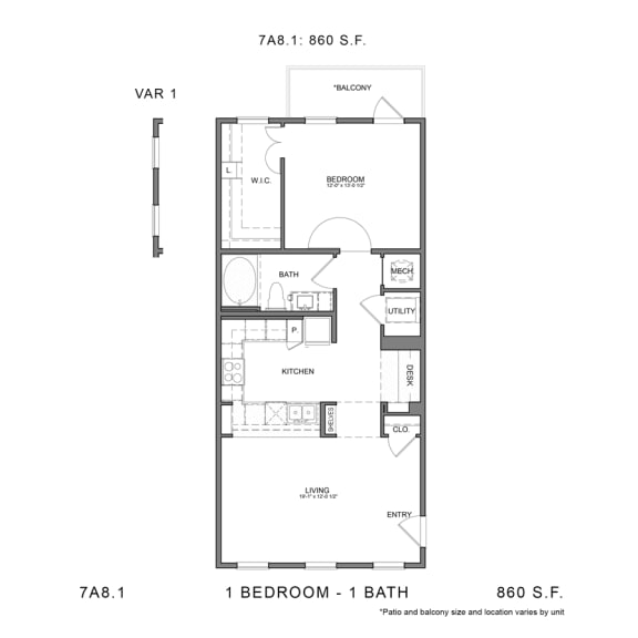 Floor Plan  STAG'S LEAP 7A8.1
