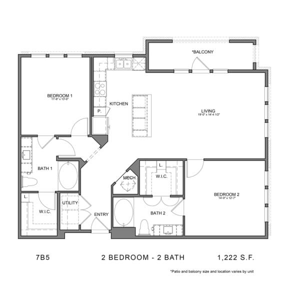 Floor Plan  STAG'S LEAP 7B5