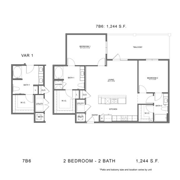 Floor Plan  STAG'S LEAP 7B6