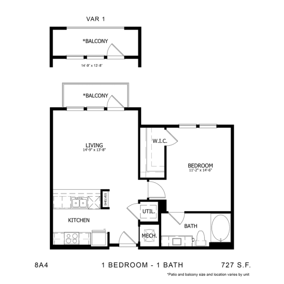 Floor Plan  STAG'S LEAP 8A4