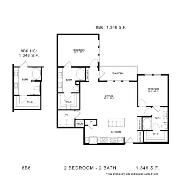 Floor Plan  STAG'S LEAP 8B6