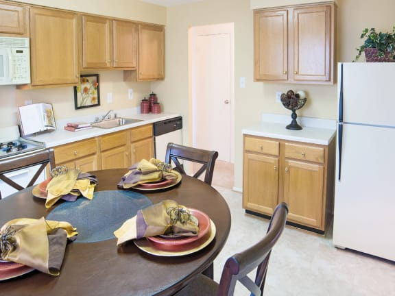 Large eat in kitchen with standard appliances at Security Park