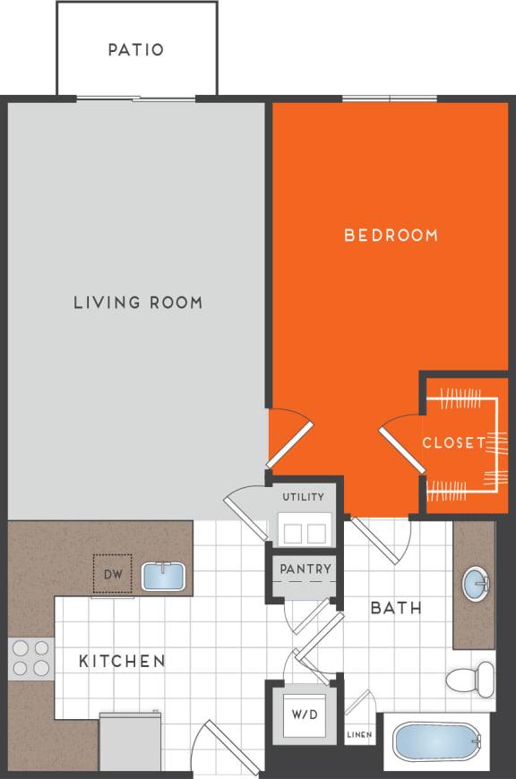 A3 Floor Plan at Berkshire Coral Gables, Florida, 33146