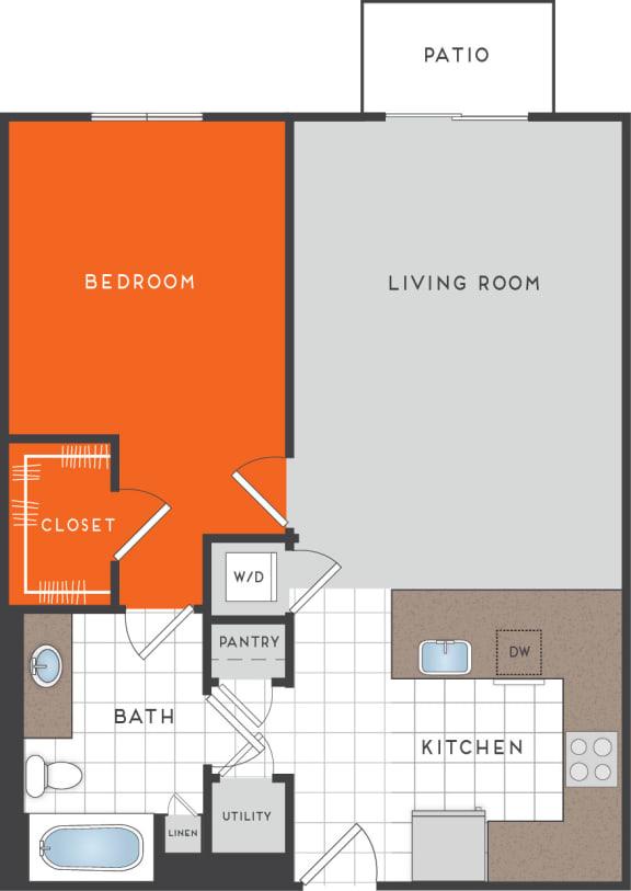 A4 Floor Plan at Berkshire Coral Gables, Miami, FL, 33146