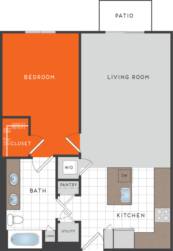 A5 Floor Plan at Berkshire Coral Gables, Miami, FL