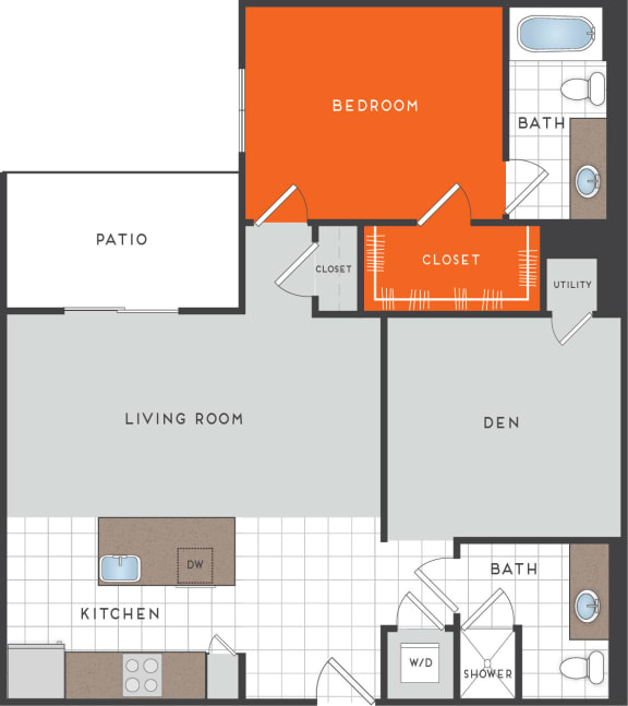 A7 Floor Plan at Berkshire Coral Gables, Florida, 33146