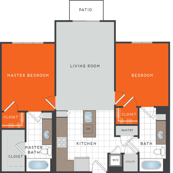 B1 Floor Plan at Berkshire Coral Gables, Miami