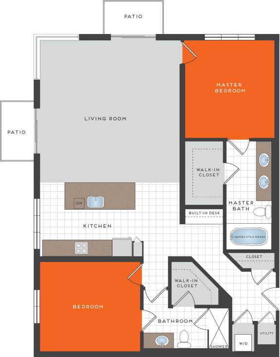 B12 Floor Plan at Berkshire Coral Gables, Miami, FL