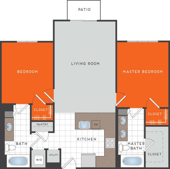 B4 Floor Plan at Berkshire Coral Gables, Miami, FL, 33146