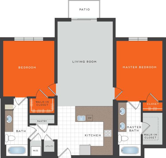 B5 Floor Plan at Berkshire Coral Gables, Miami, FL