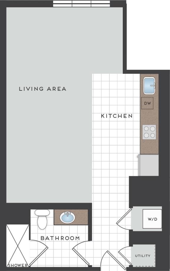 M1 Floor Plan at Berkshire Coral Gables, Miami, FL