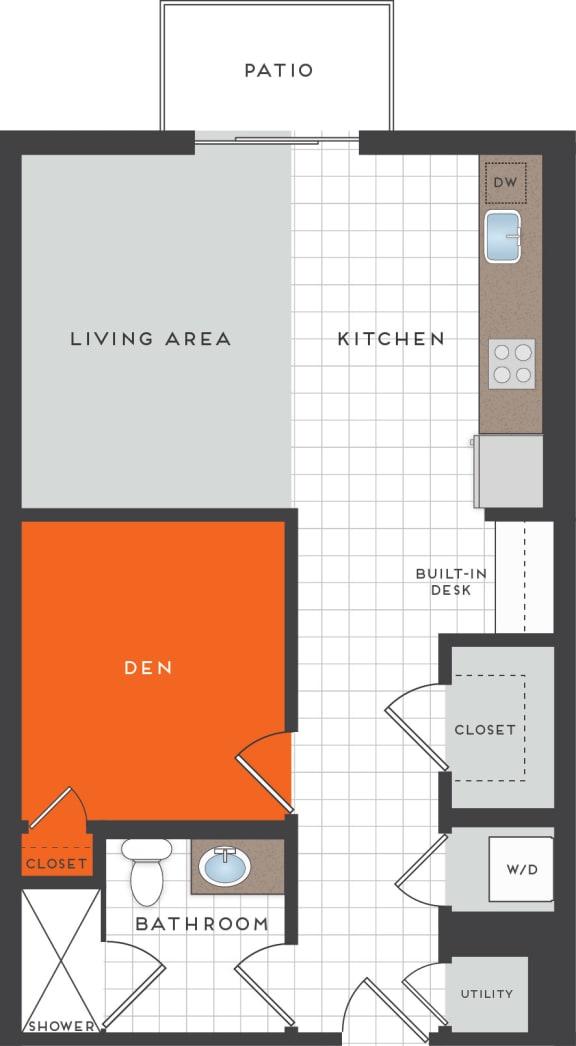 S4 Floor Plan at Berkshire Coral Gables, Miami, 33146