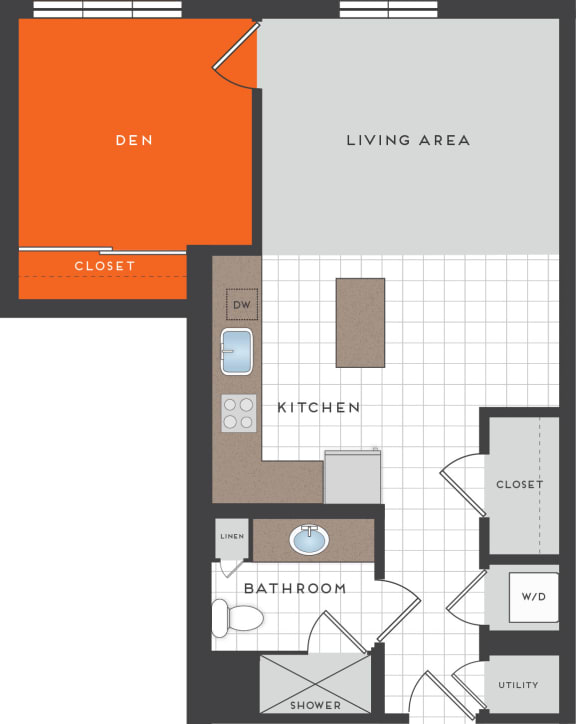 S5 Floor Plan at Berkshire Coral Gables, Miami, Florida