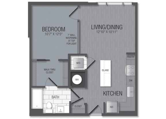 M.1A4 Floor Plan at TENmflats, Columbia, MD, 21044