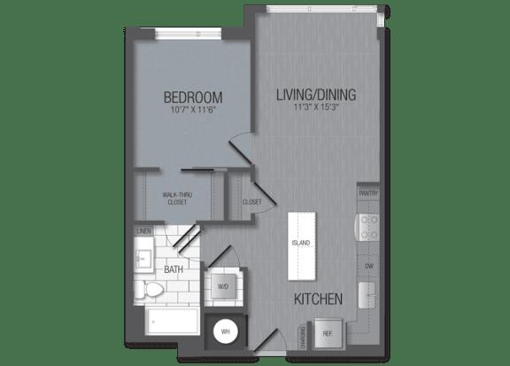 M.1B6 Floor Plan at TENmflats, Maryland, 21044