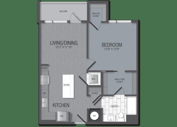 M.1B9 Floor Plan at TENmflats, Maryland, 21044