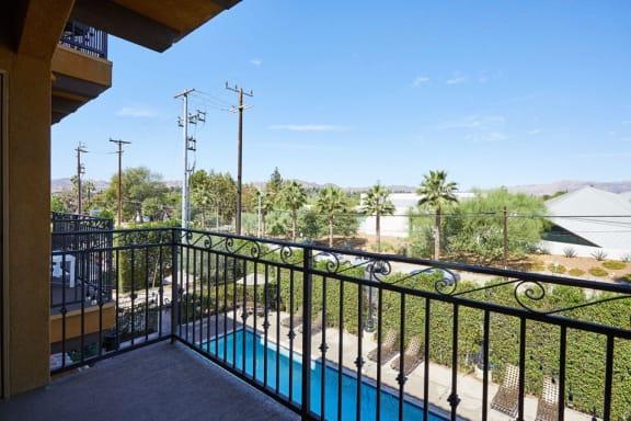 Large balconies at The Verandas, Canoga Park, California
