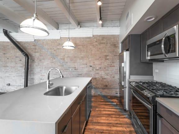 Renovated Kitchens at 1012 W Randolph Lofts