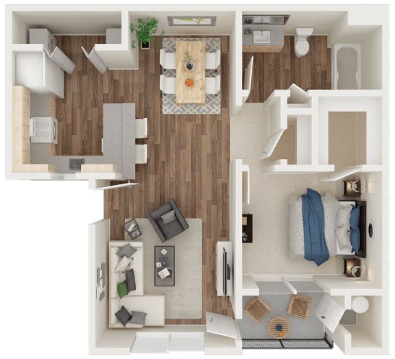 PINNACLE AT GALLERIA | Apartments | Floorplan | 1x1 Sierra