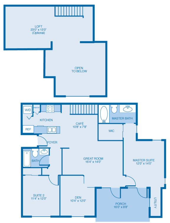 Cooper With Loft Floor Plan at Reserve at North River, Tuscaloosa, AL, 35406