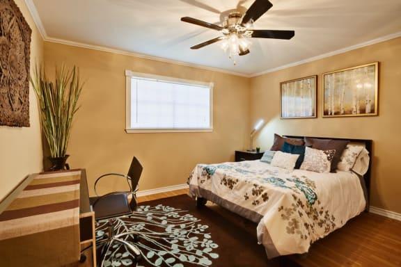 Ceiling Fans in every bedroom at Le Montreaux A Concierge Community, Austin, Texas