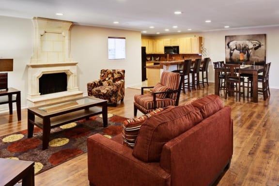 Club Room at Le Montreaux A Concierge Community, Texas, 78759
