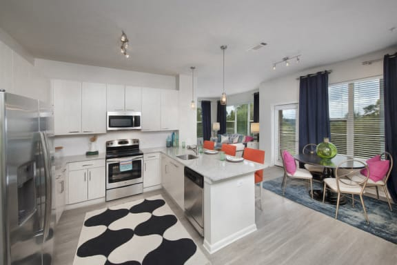 Luxury Kitchen with Light Cabinetry at Atlanta Rentals Near Me