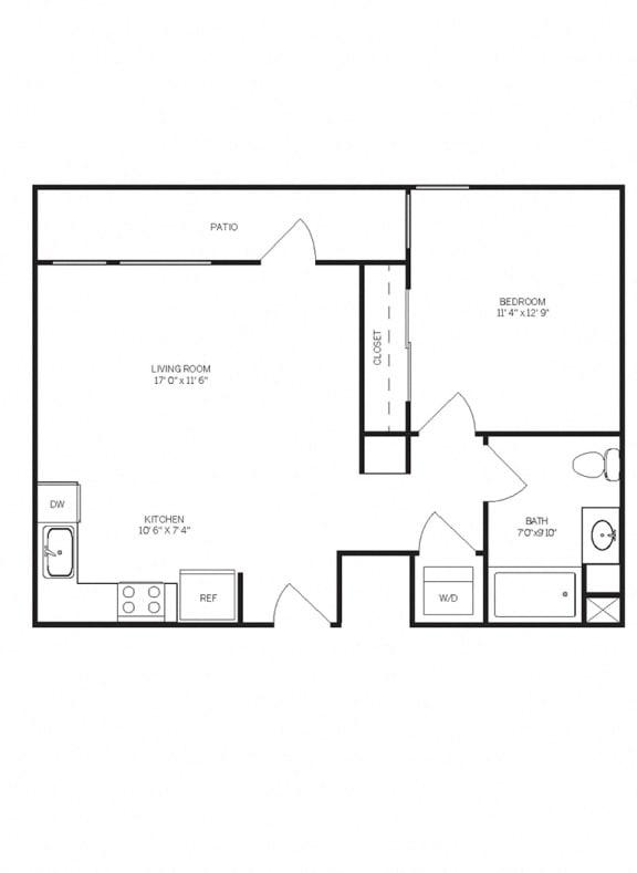 Floor Plans A1 at AVE Walnut Creek, Walnut Creek, CA