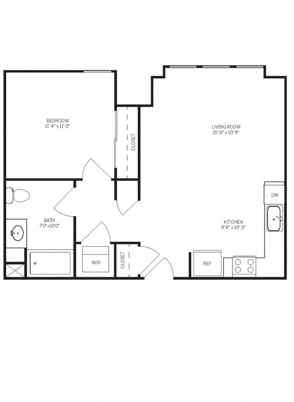 Floor Plans A2 at AVE Walnut Creek, Walnut Creek, 94596